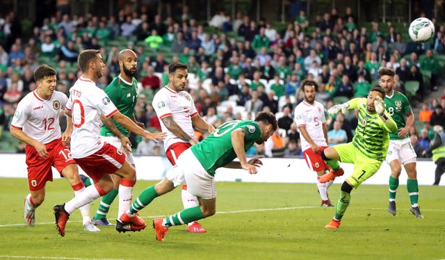 Robbie Brady's late goal secured victory for the Republic of Ireland over Gibraltar