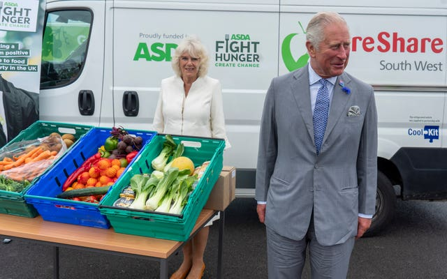 The Prince of Wales and Duchess of Cornwall during their visit