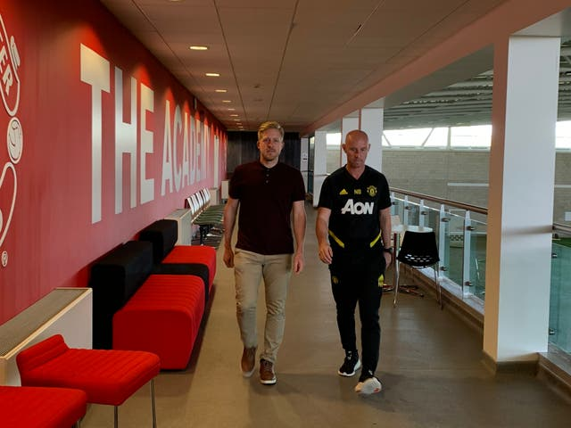 Nicky Butt, right, is in charge of the club's academy