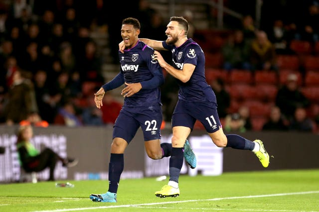 Sebastien Haller, left, got the only goal as West Ham won at Southampton