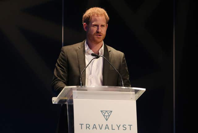 The Duke of Sussex during a sustainable tourism summit