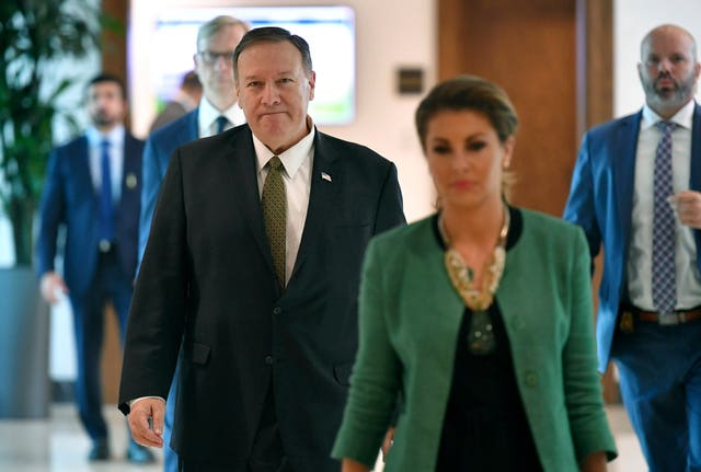 Mike Pompeo with Morgan Ortagus