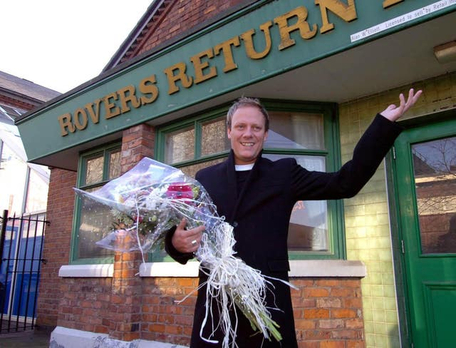 Coronation Street's Sean Tully (Antony Cotton) outside the Rovers Return pub