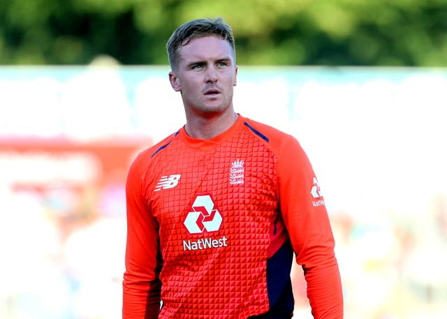 Jason Roy's left side strain means he will miss the three Twenty20 international matches against Australia (Mark Kerton/PA)