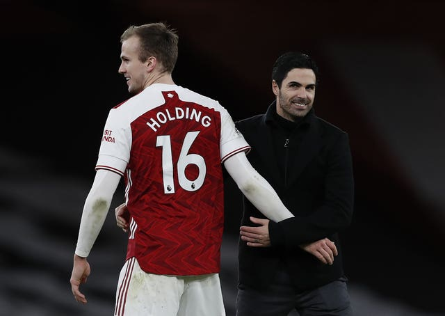 Rob Holding has recently been one of Arteta's first-choice centre-backs.