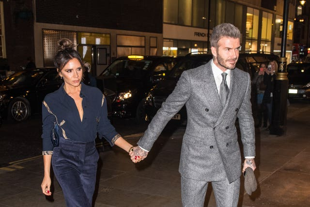 David and Victoria Beckham  at a Fashion Week dinner – London Fashion Week Men's AW19