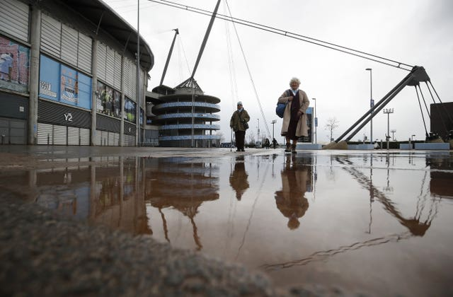 The Premier League match between Manchester City and West Ham was called off due to Storm Ciara