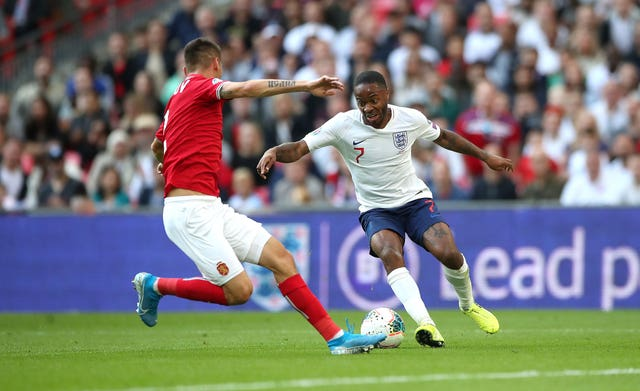 Raheem Sterling scored in England's win over Bulgaria