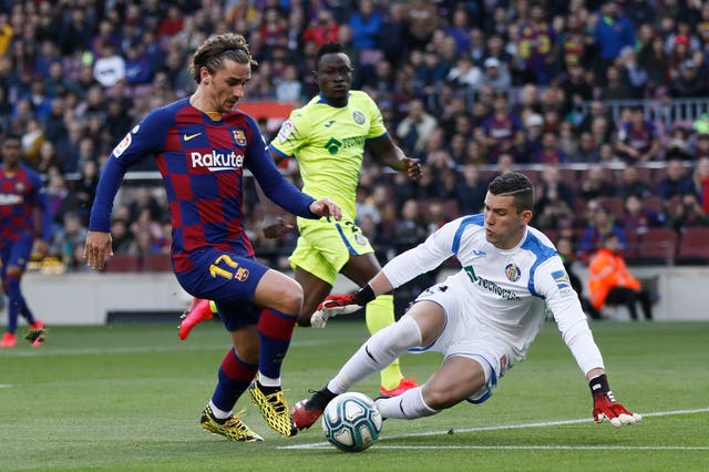 Antoine Griezmann scored his first league goal of the year against Getafe
