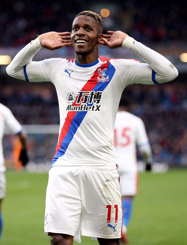 Wilfried Zaha signed a five-year contract at Selhurst Park last year