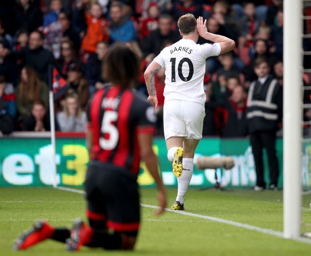 Ashley Barnes, whose own goal had put Bournemouth ahead, sealed the victory for Burnley