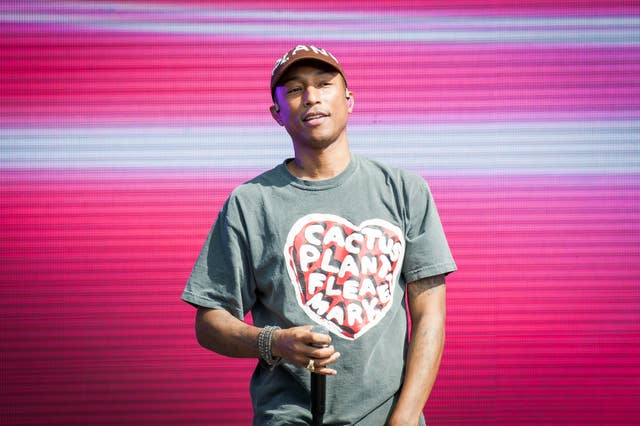 Pharrell Williams on stage