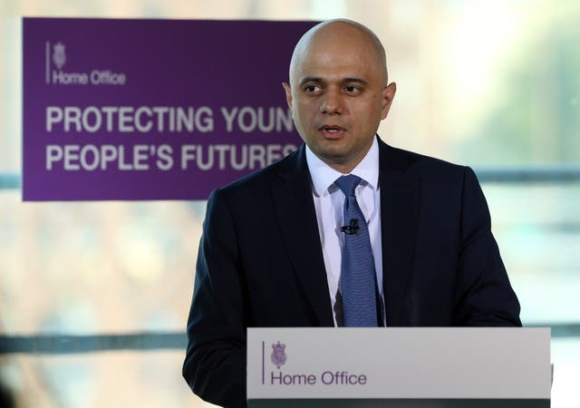 Sajid Javid speech on violent crime