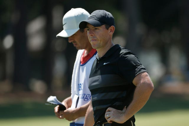 McIlroy's caddie Harry Diamond, left, has quarantined with the Northern Irishman for the last few weeks