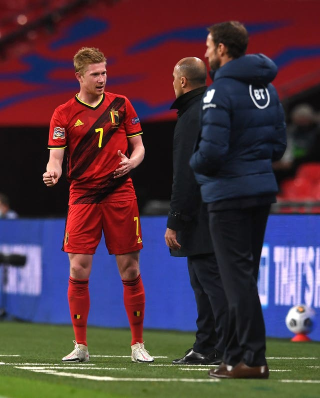 De Bruyne was substituted in the second half against England