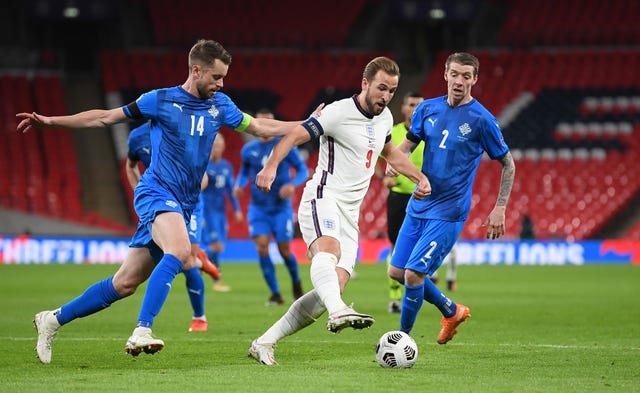 England boss Gareth Southgate praised Harry Kane for the way he led the side against Iceland