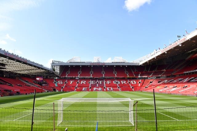 Old Trafford's stands could remain empty if the Premier League season does resume