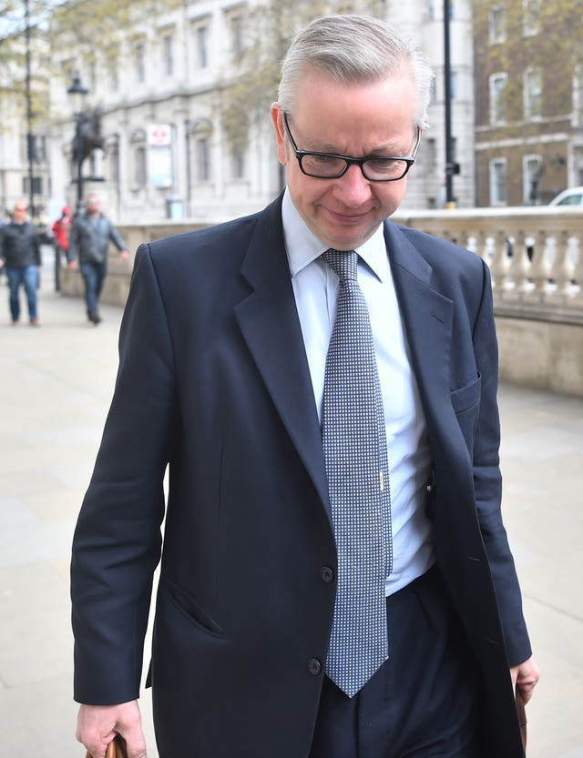 Environment Secretary Michael Gove arrives at the Cabinet Office