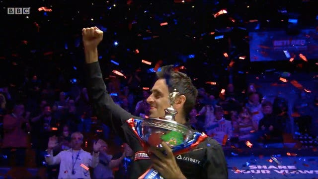 O'Sullivan won his latest world title at The Crucible in August