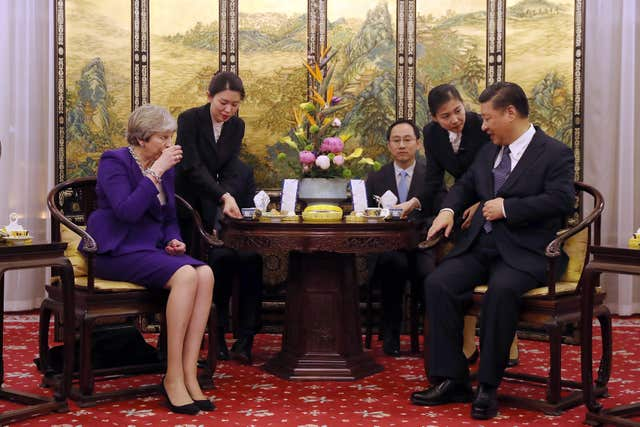 Theresa May visit to China - Day Two