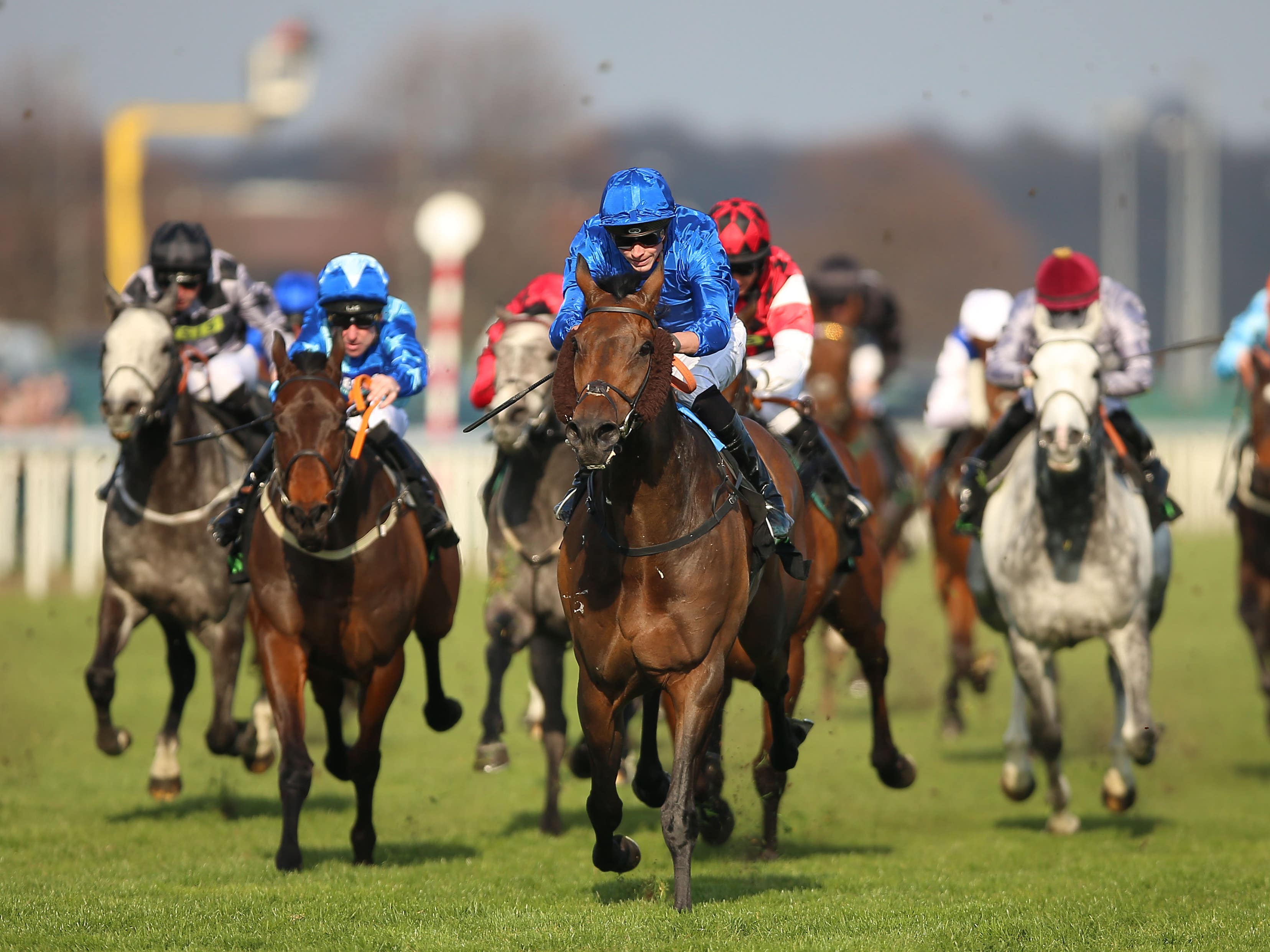 Auxerre (centre) won the 2018 Lincoln at Doncaster (Nigel French/PA)