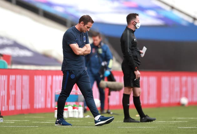 Chelsea manager Frank Lampard was unable to guide his side to victory at Wembley (