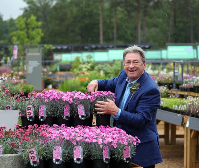 Alan Titchmarsh has backed the calls for Government support of the industry (Steve Parsons/PA)