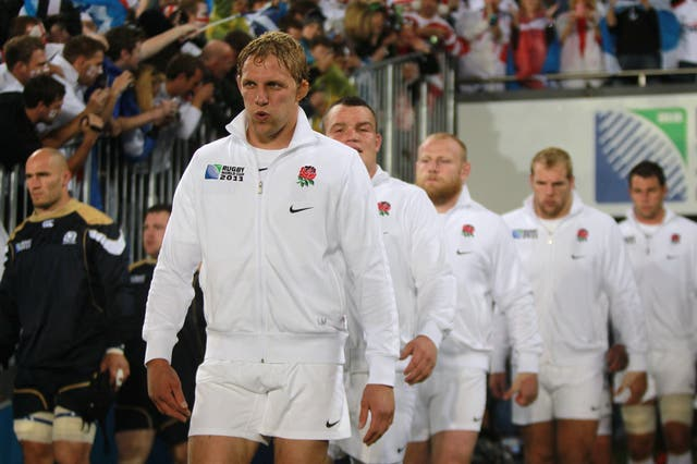 Lewis Moody captained England at the 2011 World Cup