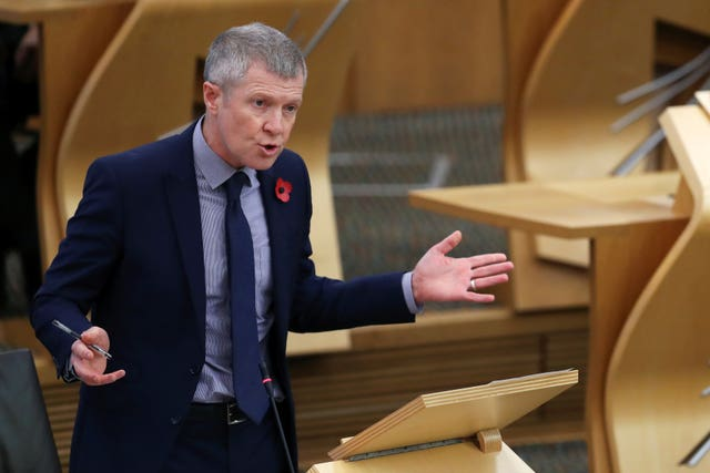 Willie Rennie in Holyrood