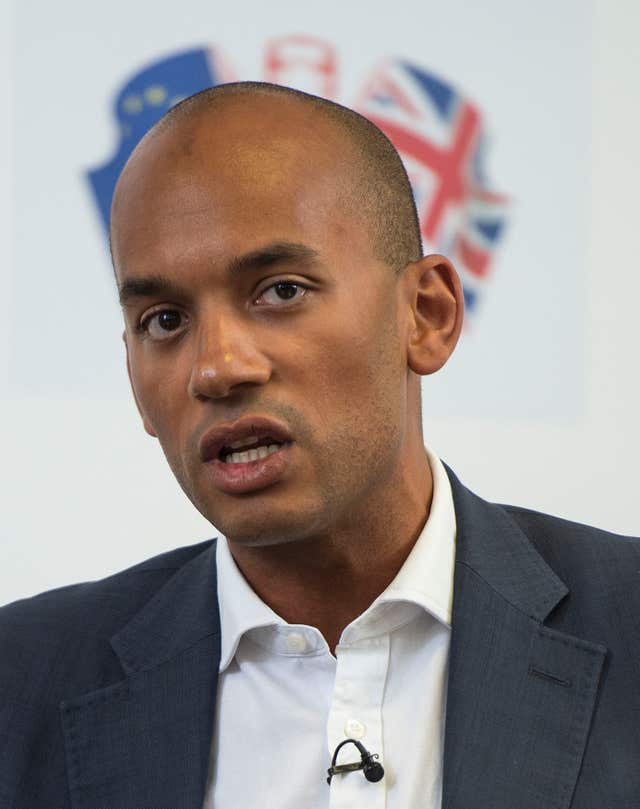 Labour's Chuka Umunna accused Mr Johnson of hypocrisy (Lauren Hurley/PA)