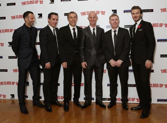 Nicky Butt was part of Manchester United's famous 'Class of 92'