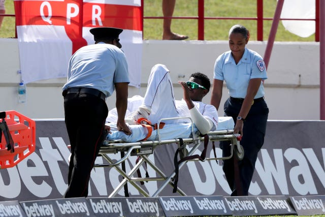 Keemo Paul is stretchered off