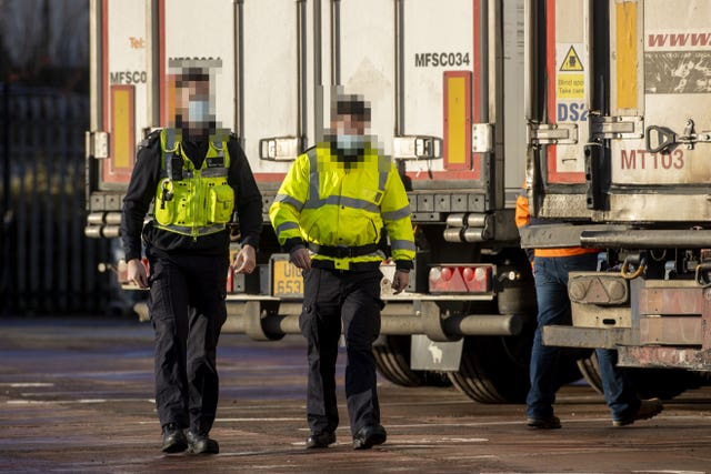 Six lorries on the first ferry arriving in Belfast on January 1 were delayed because of incomplete paperwork