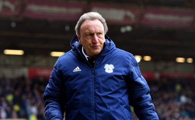 Luck has gone against Neil Warnock's Cardiff recently (Anthony Devlin/PA)