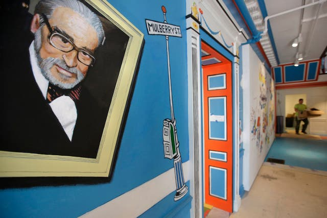 A mural at the Amazing World of Dr Seuss Museum