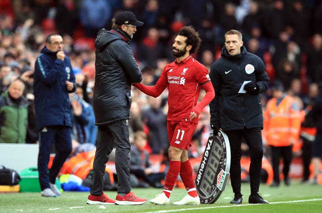 Mohamed Salah received a standing ovation when leaving the field late on