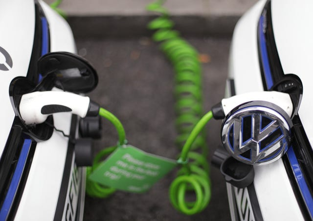 VW Electric Hybrid Car Recharging Stock
