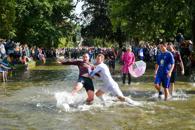 Annual Football in the River match