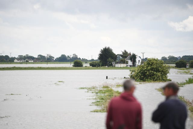 A flooded field in Thorpe Culvert