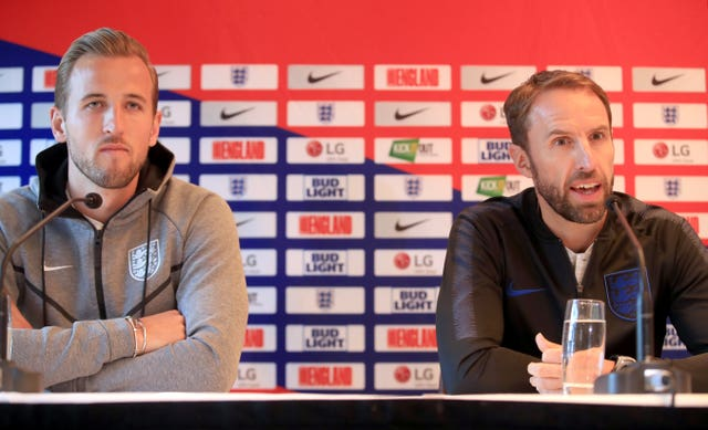 England manager Gareth Southgate (right) and captain Harry Kane