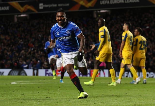 Alfredo Morelos played a part in both Rangers goals