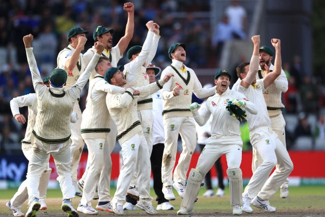 The moment Australia knew they had secured the Ashes as Overton was given out
