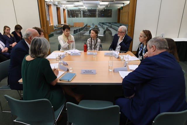 Greta Thunberg meets leaders of the UK political parties