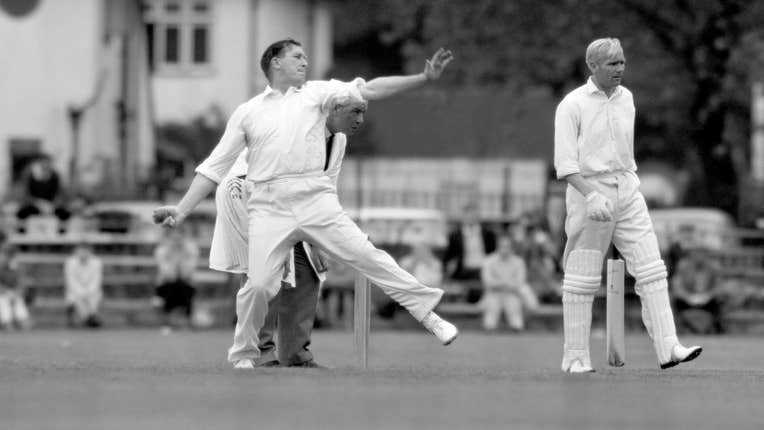 Jim Laker during his record 19 wickets in a Test Match || Image Courtesy: ICC