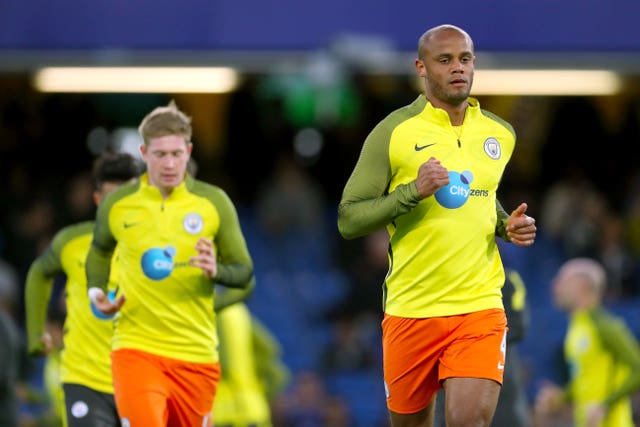 Vincent Kompany (right) has played with De Bruyne (left) with City and Belgium