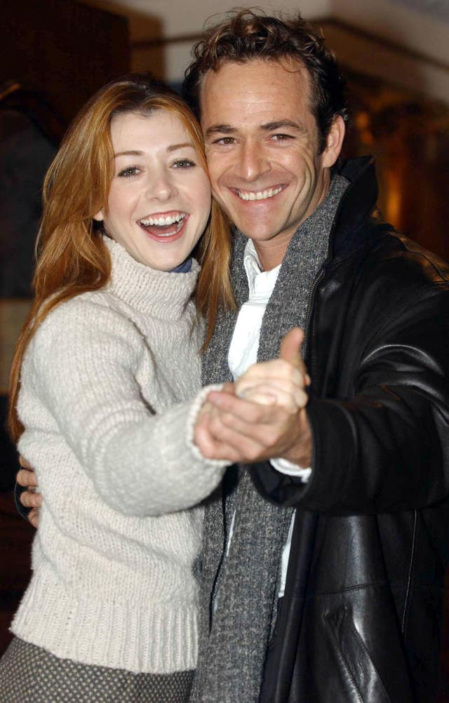 Luke Perry and Alyson Hannigan launch the stage adaptation of When Harry Met Sally