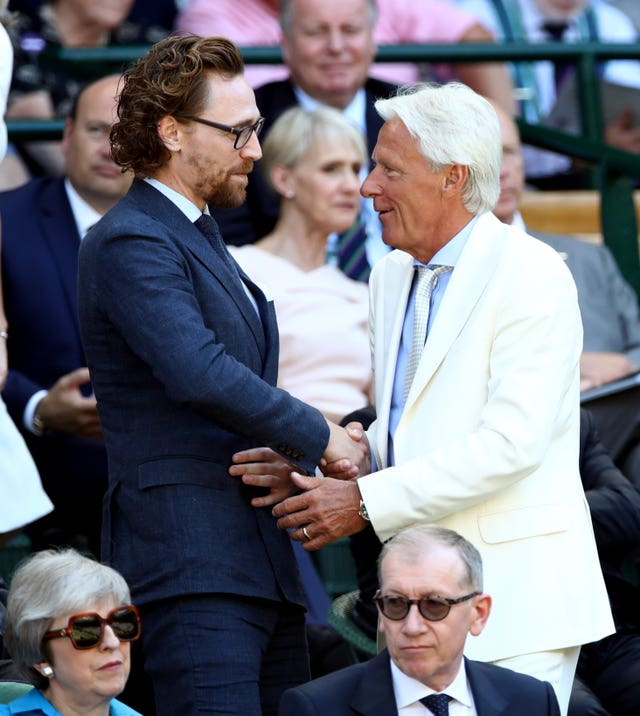 Tom Hiddleston and Bjorn Borg