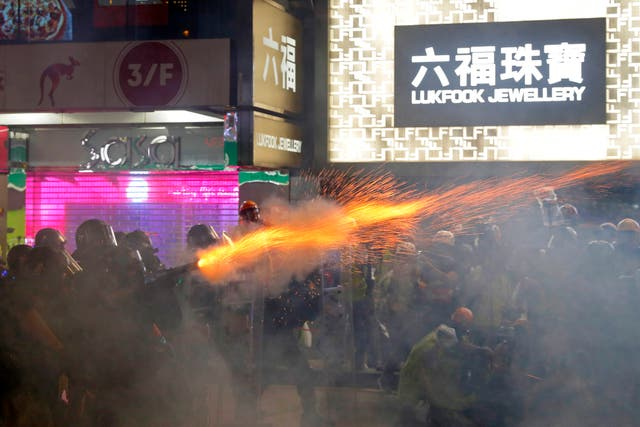 Clashes in Hong Kong