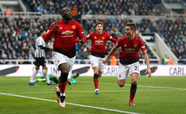 Romelu Lukaku scored the important first goal as Manchester United beat Newcastle