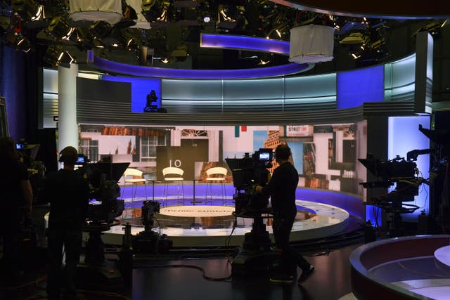 Tory debate studio